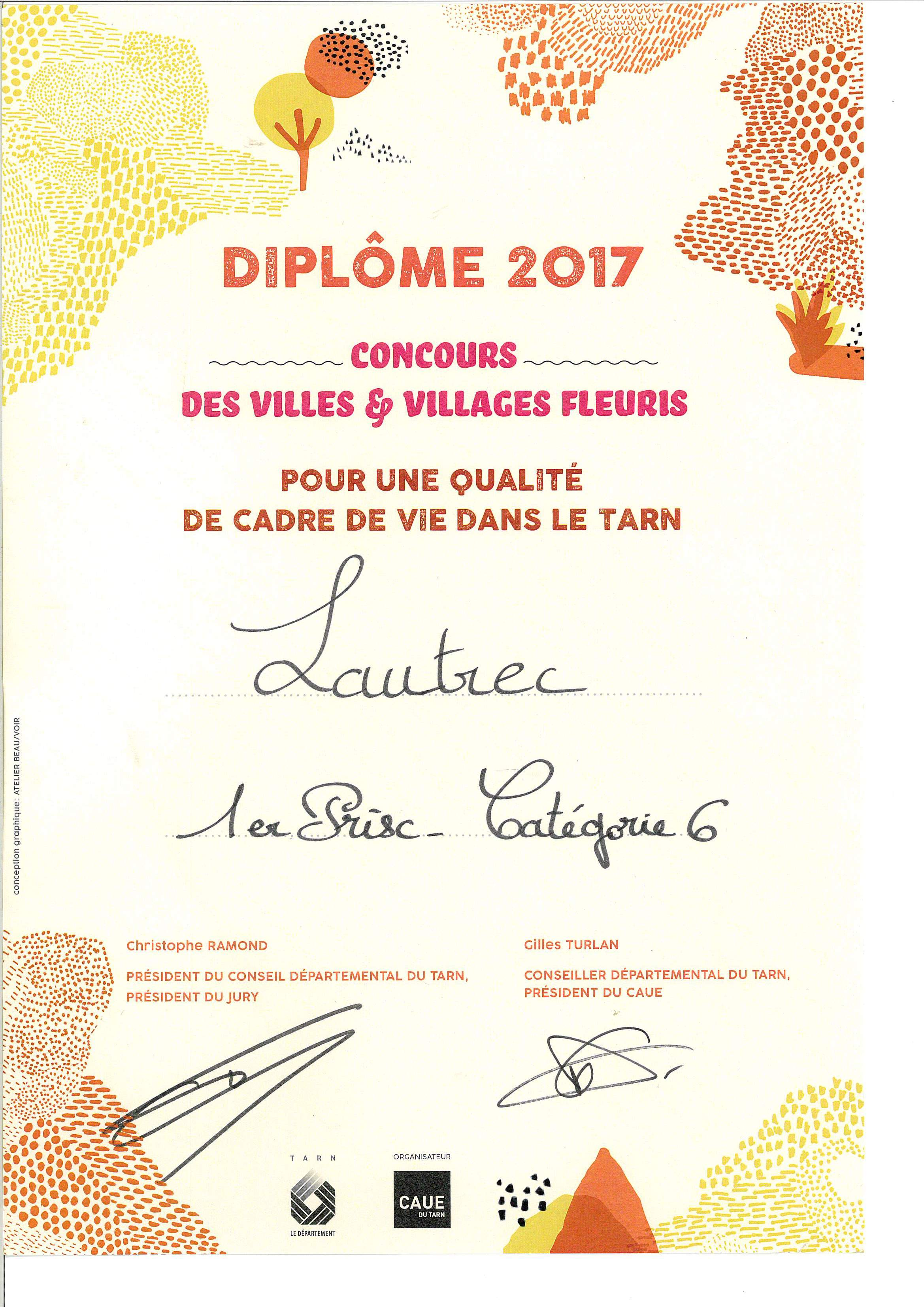 DIPLOME CONCOURS 2017