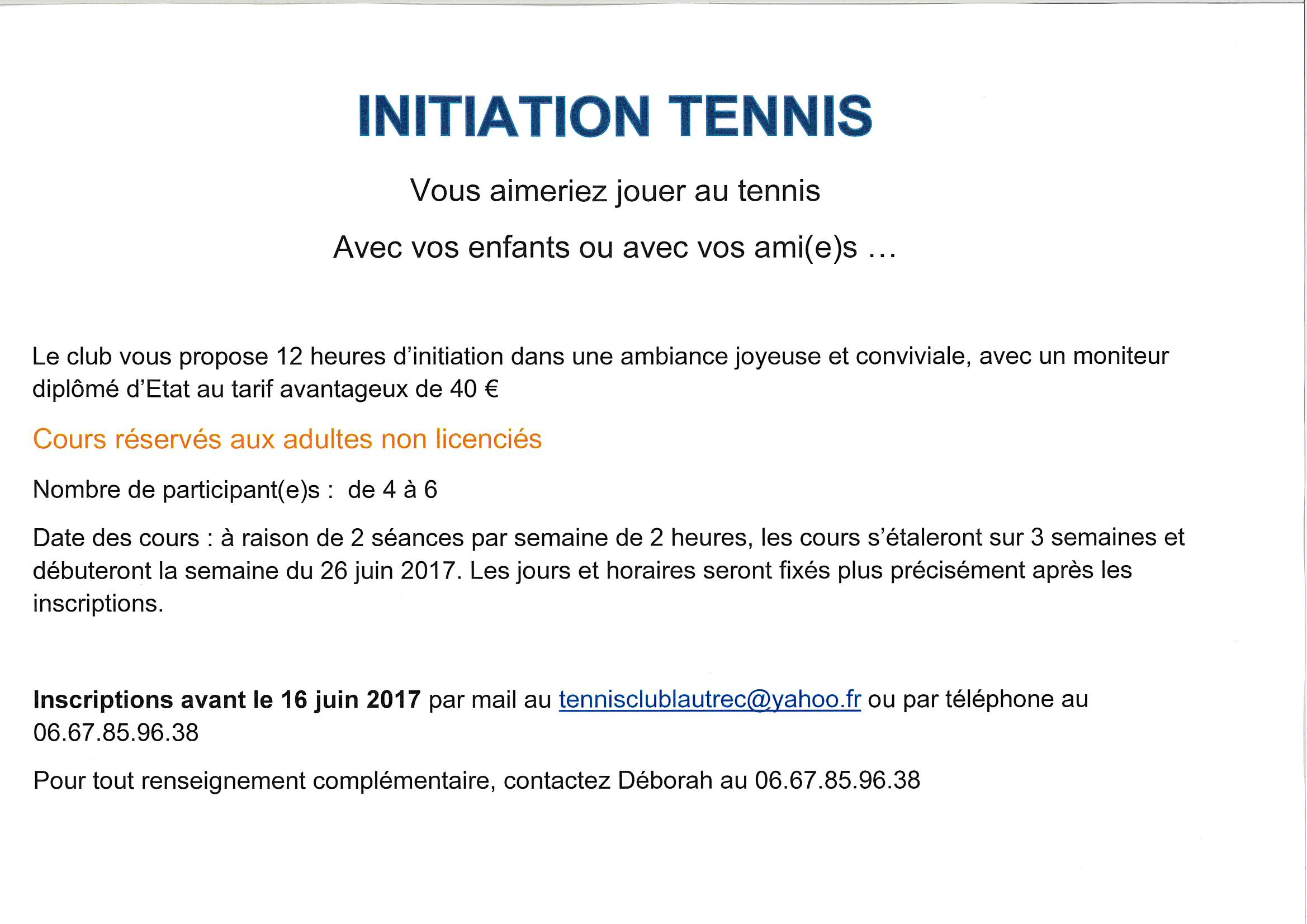 TENNIS CLUB LAUTRECOIS