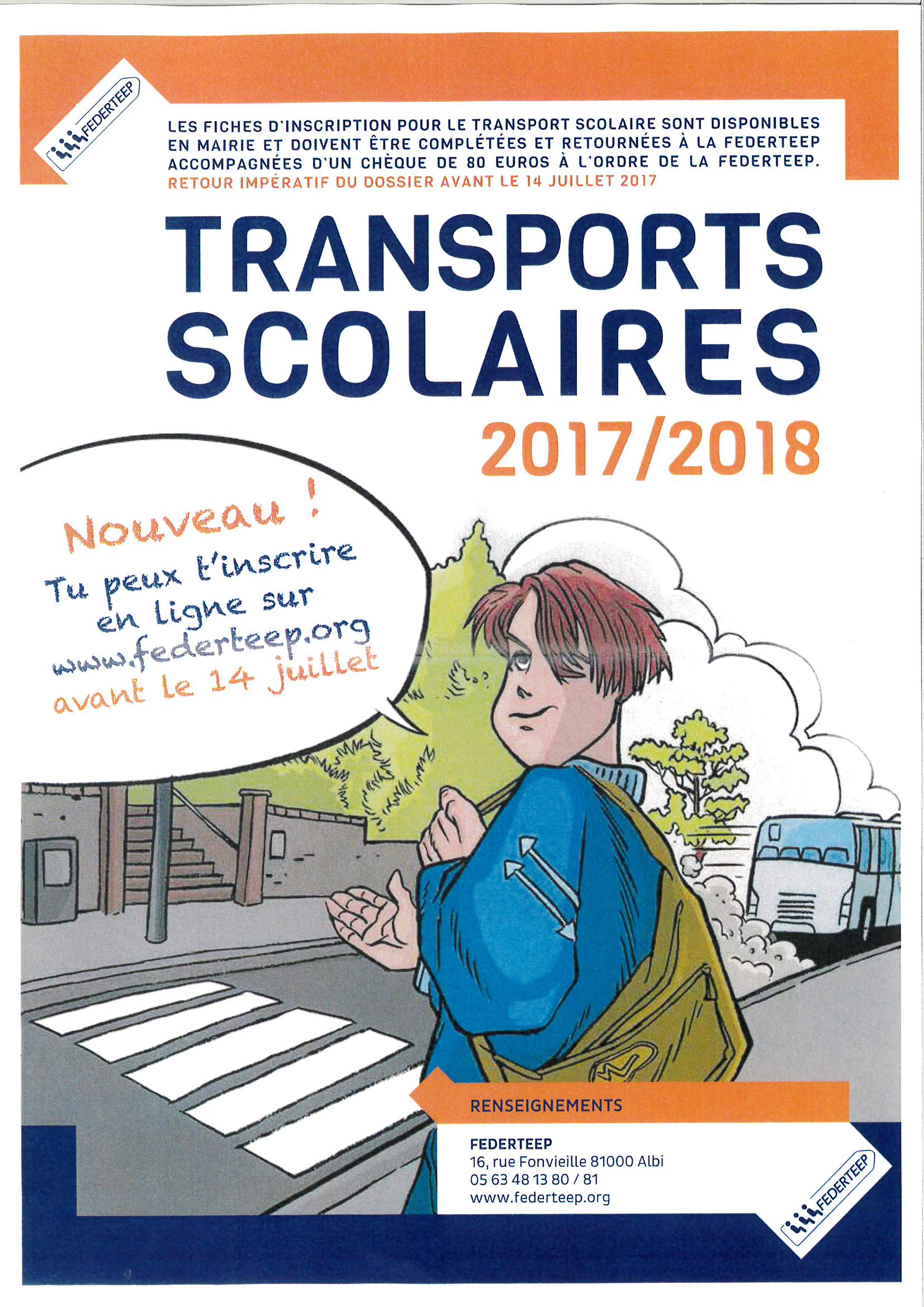 Transports scolaires inscriptions 2017/2018
